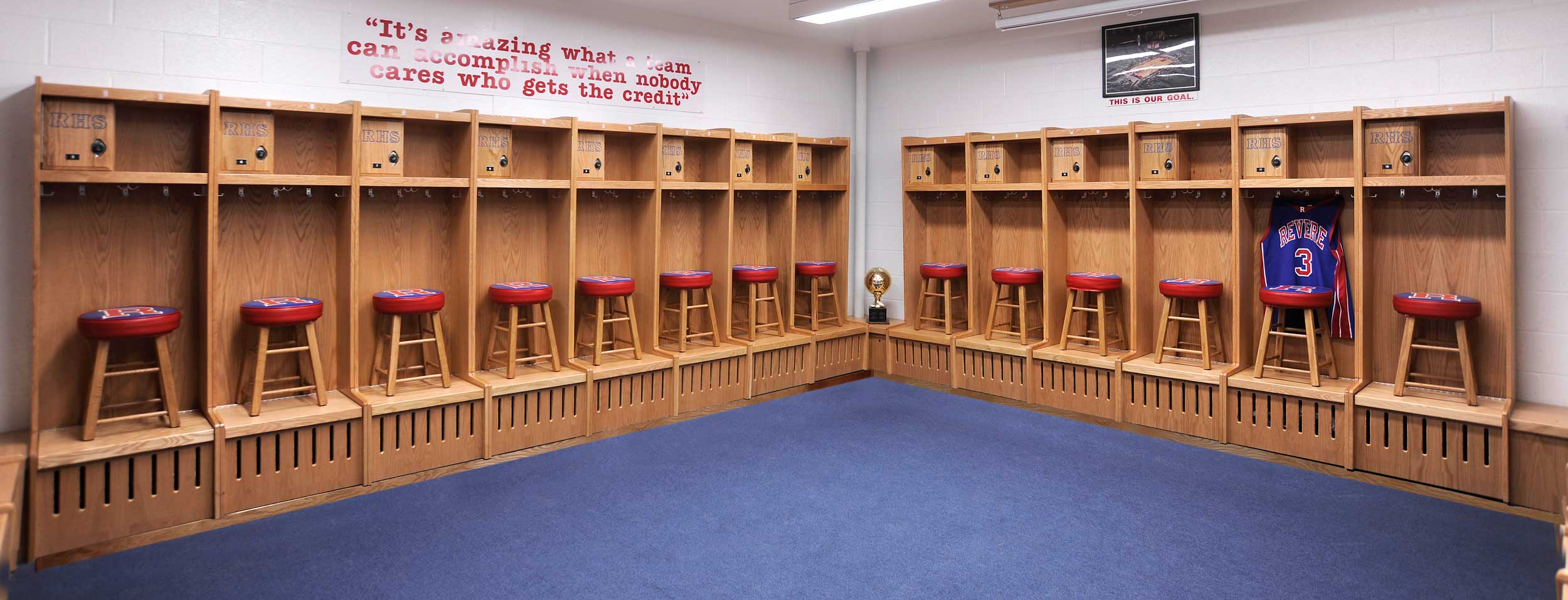 Wood Sports Locker Installations By All Wood Lockers