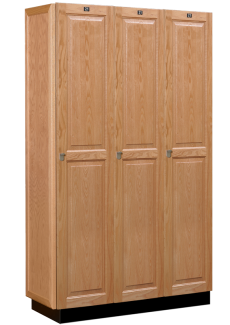Solid Wood Raised Panel Club Locker