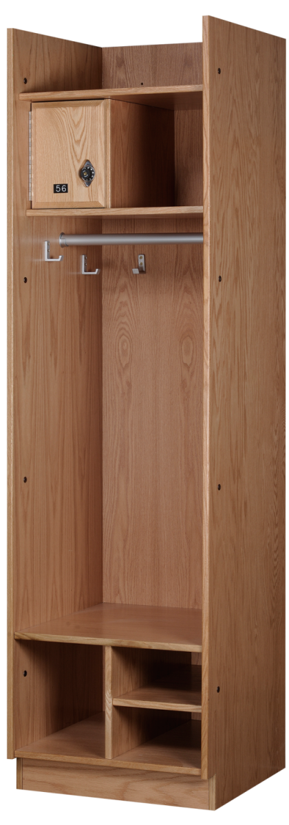 Straight Front Wood Lockers in Autumn Oak