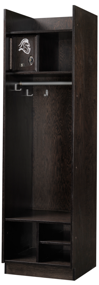 Straight Front Wood Lockers in Charcoal Oak