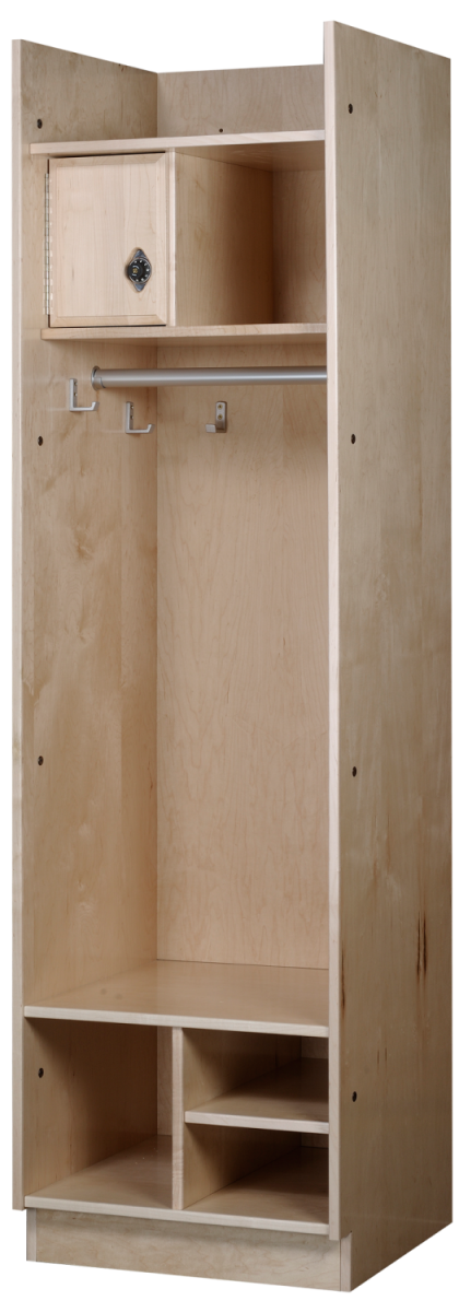Straight Front Wood Lockers in Hardrock Maple