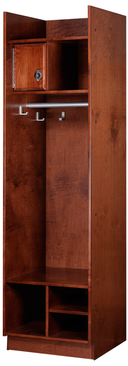 Straight Front Wood Lockers in Rosewood Maple