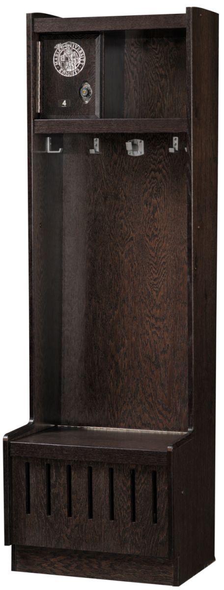 Open Wood Lockers in Charcoal Oak