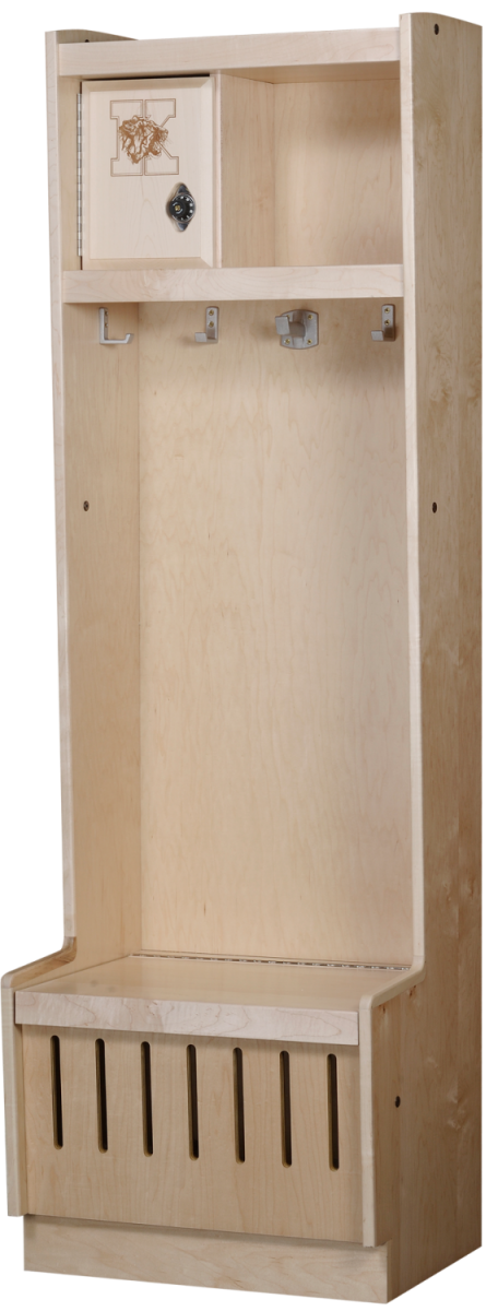 Open Wood Lockers in Hardrock Maple