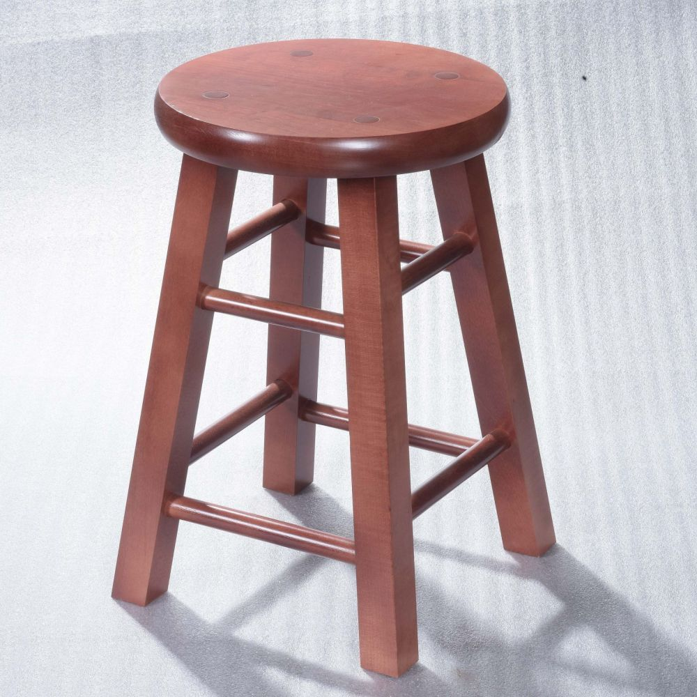 Matching Solid Wood Top Locker Stools