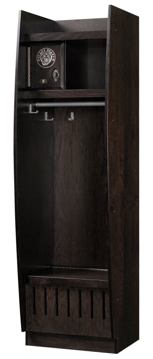 Bow Front Wood Sports Lockers